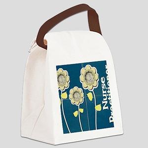 Nurse Practitioner Flower tote BL Canvas Lunch Bag