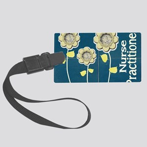 Nurse Practitioner Flower tote B Large Luggage Tag