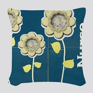 Nurse Practitioner Flower tote Woven Throw Pillow