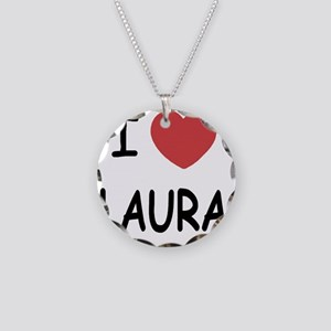 i heart laura Necklace Circle Charm