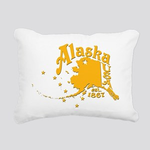 ALASKA 1867 GOLD Rectangular Canvas Pillow