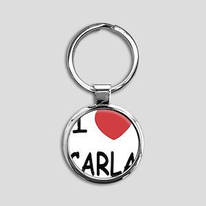 i heart carla Round Keychain