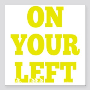 "OYL_Yellow Square Car Magnet 3"" x 3"""