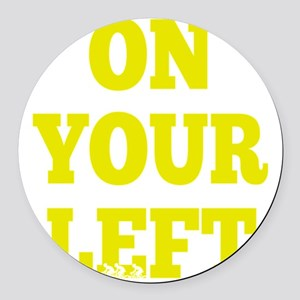 OYL_Yellow Round Car Magnet