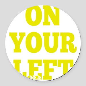OYL_Yellow Round Car Magnet