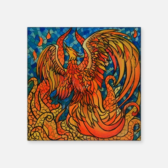 "Haven Phoenix Square Sticker 3"" x 3"""