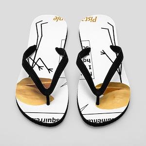 Pistachio Nut Horror Flip Flops
