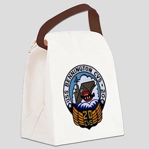 uss bennington cvs patch transpar Canvas Lunch Bag