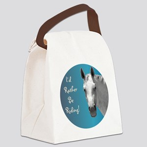 Id Rather Be Riding Horse Canvas Lunch Bag