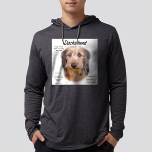 Wirehaired Dachshund Mens Hooded Shirt