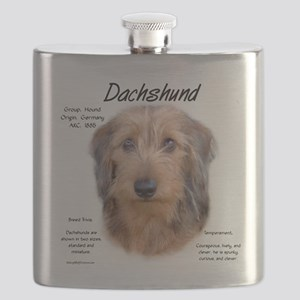 Wirehaired Dachshund Flask