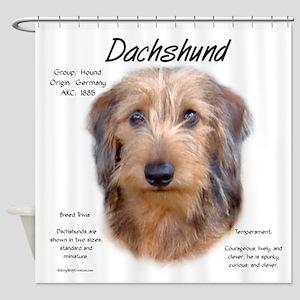 Wirehaired Dachshund Shower Curtain