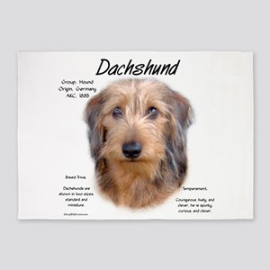 Wirehaired Dachshund 5'x7'Area Rug