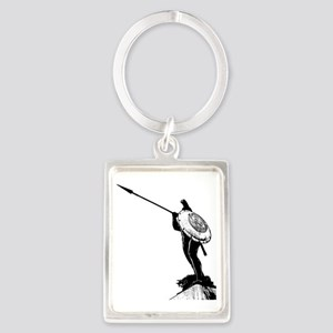 Leonidas the Great King Portrait Keychain