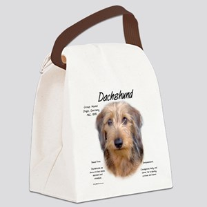 Wirehaired Dachshund Canvas Lunch Bag