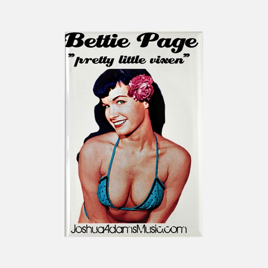 Bettie Page Rectangle Magnet