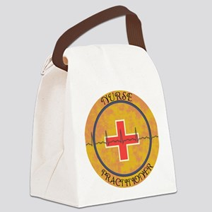 NURSE PRACTITIONER ROUND GOLD CLO Canvas Lunch Bag