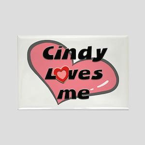 cindy loves me Rectangle Magnet