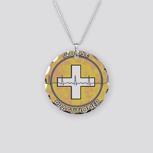 Nurse Practitioner lime and  Necklace Circle Charm