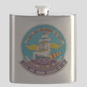 uss bon homme richard cv patch transparent Flask