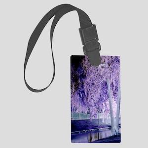 Shades Of Purple Large Luggage Tag