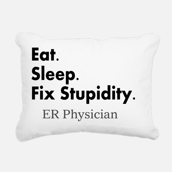 Eat sleep ER doc Light s Rectangular Canvas Pillow