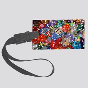 Lets Roll - Colourful Dice Large Luggage Tag