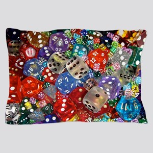Lets Roll - Colourful Dice Pillow Case