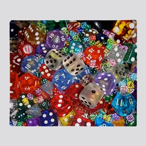 Lets Roll - Colourful Dice Throw Blanket