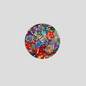 Lets Roll - Colourful Dice Mini Button
