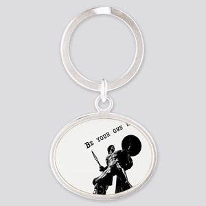 Be your own hero Oval Keychain