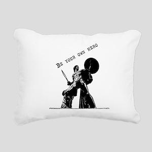 Be your own hero Rectangular Canvas Pillow