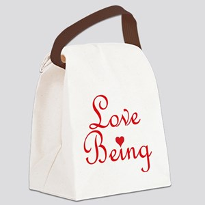 Love Being Canvas Lunch Bag