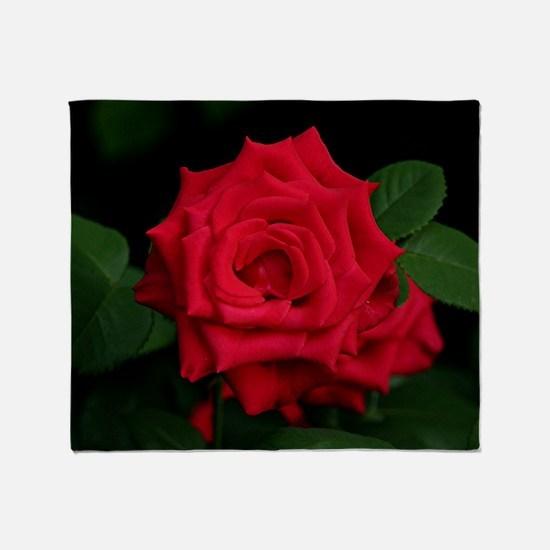 Rose, red Throw Blanket