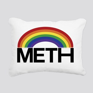 Meth Rainbow Rectangular Canvas Pillow