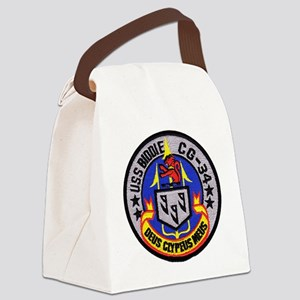 uss biddle cg patch transparent Canvas Lunch Bag