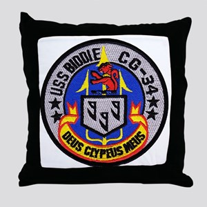uss biddle cg patch transparent Throw Pillow