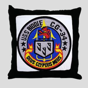 uss biddle cg patch transparent Throw Pillow