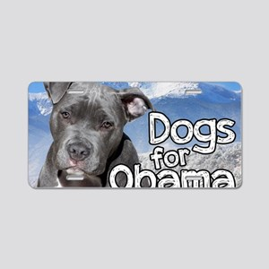 Dogs for Obama Aluminum License Plate