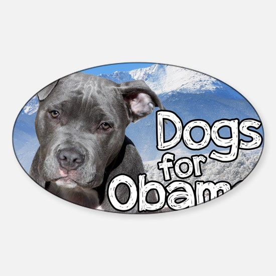 Dogs for Obama Sticker (Oval)