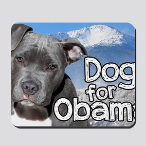 Dogs for Obama Mousepad