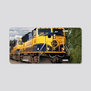 Alaska Railroad engine Aluminum License Plate