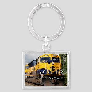 Alaska Railroad engine Landscape Keychain