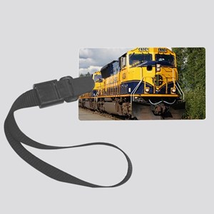 Alaska Railroad engine Large Luggage Tag