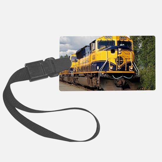 Alaska Railroad engine Luggage Tag