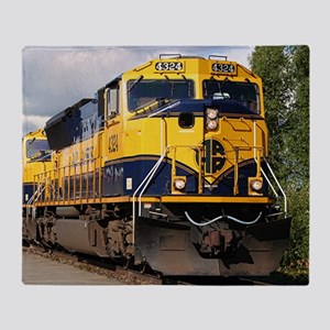 Alaska Railroad engine Throw Blanket