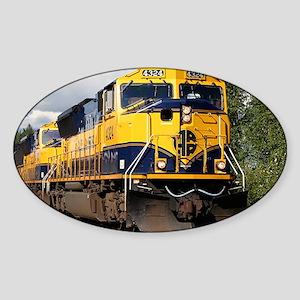 Alaska Railroad engine Sticker (Oval)