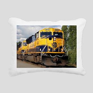 Alaska Railroad engine Rectangular Canvas Pillow
