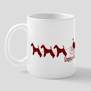 "Wire Fox ""Sleigh"" Mug"