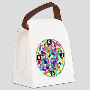 psych nurse clock yellow Canvas Lunch Bag